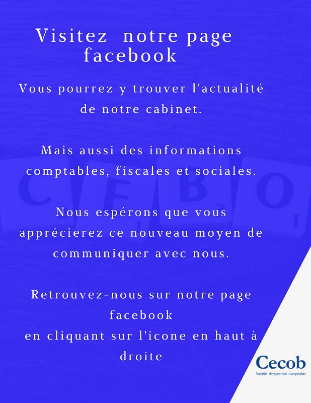annonce page facebook